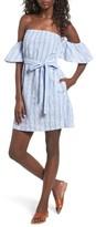 Mimichica Women's Mimi Chica Seersucker Off The Shoulder Dress