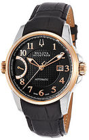 Accutron by Bulova 65B148 Men's Calibrator Auto Black Leather and Textured