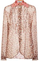 Coach bandana collar sheer shirt - women - Silk - 2