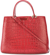 Emporio Armani crocodile embossed tote - women - Leather - One Size