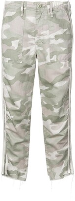 Mother camouflage print trousers