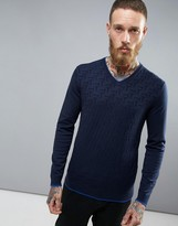 Ted Baker Golf Long Sleeve V Neck Knit