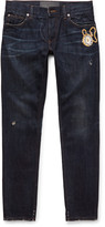 Dolce & Gabbana - Slim-fit Embroidered Denim Jeans