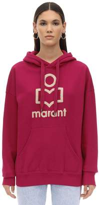 Etoile Isabel Marant Logo Embroidered Cotton Blend Hoodie