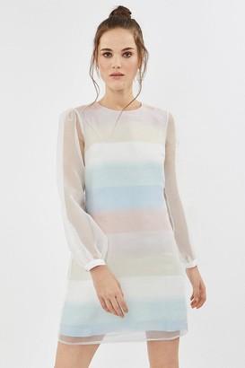 Coast Pastel Striped Organza Shift Dress