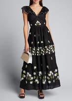 Gül Hürgel Embroidered Sleeveless V-Neck Maxi Dress