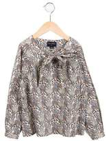 Oscar de la Renta Girls' Printed Long Sleeve Top