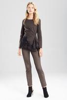 Josie Natori Ultra Suede Slim Ankle Pants