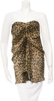 Isabel Marant Printed Strapless Top