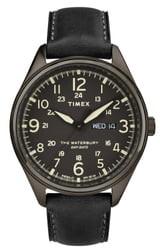 Timex Men's Waterbury Leather Watch, 42mm
