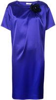 Lanvin flower pin shift dress - women - Polyester/Triacetate - 38