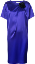 Lanvin flower pin shift dress - women - Polyester/Triacetate - 46