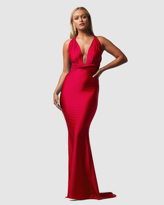 Tania Olsen Designs - Women's Red Maxi dresses - Eternity Wrap Dress - Size One Size, XS at The Iconic