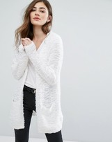 Only Soft Pop Feather Open Cardigan