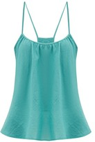 Loup Charmant Scoop-neck Cotton Cami Top - Womens - Blue