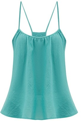 Loup Charmant Scoop-neck Cotton Cami Top - Blue