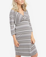 Motherhood Maternity Faux-Wrap Dress