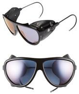 Moncler Women's 57Mm Mirrored Shield Sunglasses - Black/ Gold/ Brown Mirror