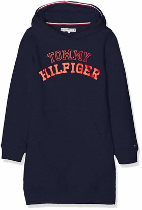 Tommy Hilfiger Girl's Essential Logo Hoodie Dress L/s