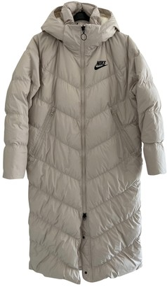 Nike White Synthetic Coats