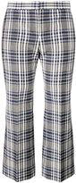 Alexander McQueen checked cropped trousers - women - Virgin Wool/Cupro - 40