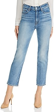 7 For All Mankind High-Rise Straight Ankle Jeans in Ventura Blvd