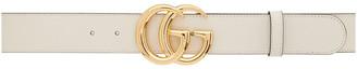 Gucci White Wide GG Marmont Belt