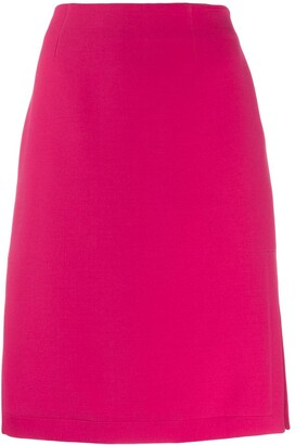 Emilio Pucci Side Slit Pencil Skirt