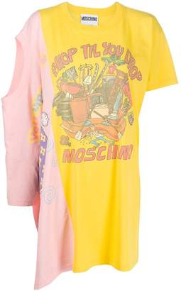 Moschino logo print double T-shirt dress