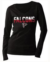 5th & Ocean Women's Atlanta Falcons Huddle LE Long Sleeve T-Shirt