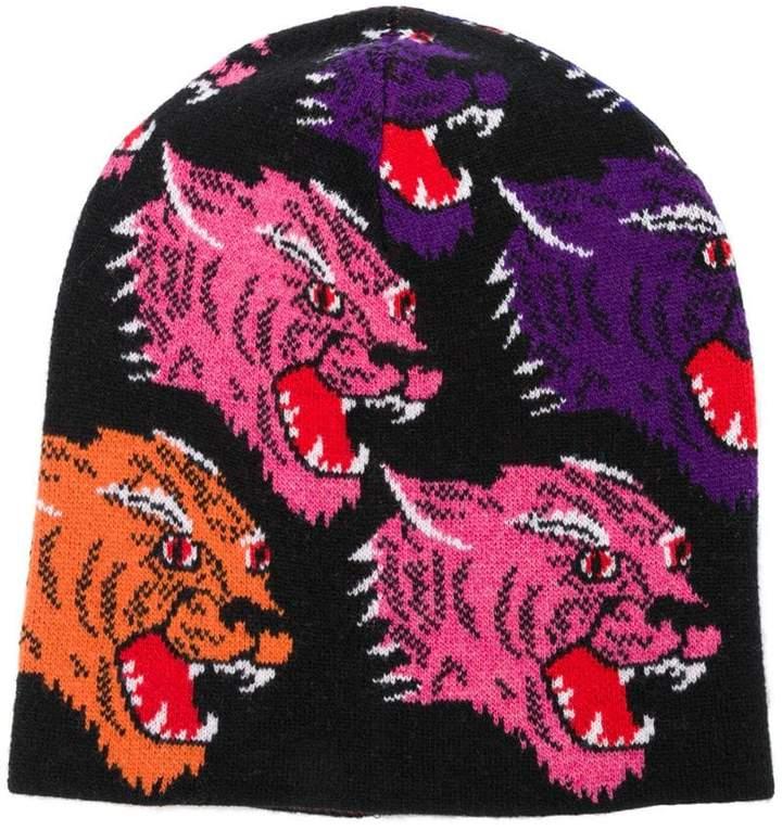 Gucci tiger knit beanie