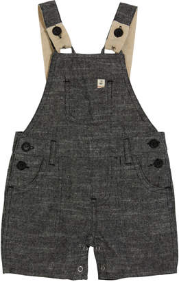 Me & Henry Boy's Woven Cotton Overalls w/ Children's Book, Size 6-24 Months