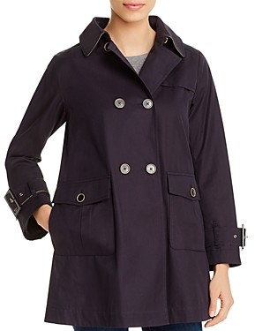 Herno Monogrammed Double-Breasted Trench Coat
