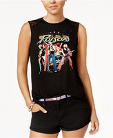 Freeze 24-7 Juniors' Poison Crochet-Back Graphic Tank Top