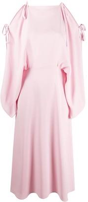 Prada Cold Shoulder Midi Dress