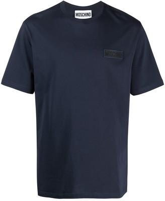 Moschino logo plaque short sleeve T-shirt