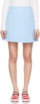 Carven Blue Button Miniskirt