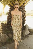Forever 21 Tropical Strapless Smock Dress