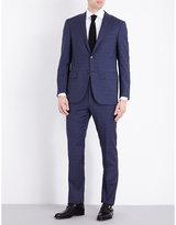 Corneliani Check-print Slim-fit Wool Suit