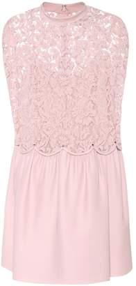 Valentino Wool and silk lace dress