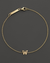 Chicco Zoe 14K Yellow Gold Initial Bracelet