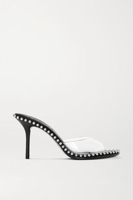 Alexander Wang Nova Studded Leather And Pvc Sandals - Black