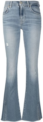7 For All Mankind Low Rise Flared Jeans