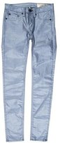Rag & Bone Steel Metallic Legging Low-Rise Jeans