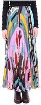 Valentino Multicolor Pleated Silk Shirt