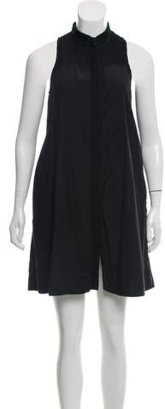 Rag & Bone Sleeveless Mesh-Accented Dress Black Sleeveless Mesh-Accented Dress