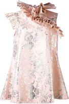 Marques Almeida Marques'almeida - frill neck dress - women - Cotton/Polyamide/Polyester/Cupro - M