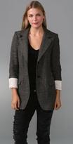 Tweed Slouchy Boyfriend Blazer