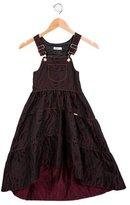 Junior Gaultier Girls' Metallic-Accented Patterned Dress