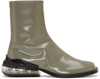 Maison Margiela Green Airbag Tabi Boots